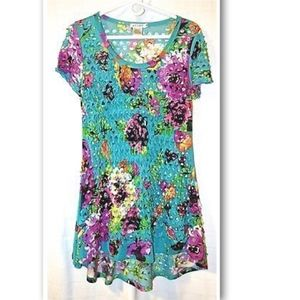 ADORE by Anthropologie Cutout Tunic Multi-Color
